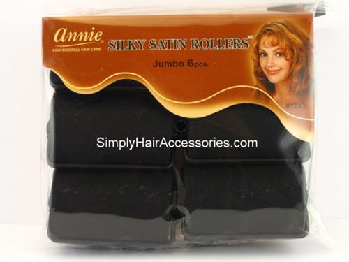 """Annie Jumbo 1-1/2"""" Satin Hair Rollers - 6 Pcs."""