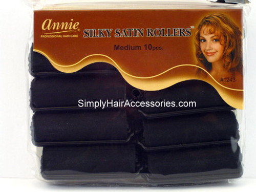 "Annie Medium 3/4"" Satin Hair Rollers - 12 Pcs."