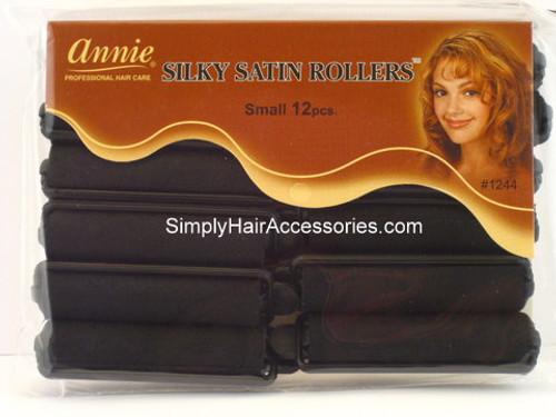"""Annie Small 1/2"""" Satin Hair Rollers - 12 Pcs."""