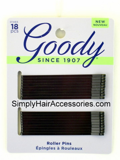 Goody Large Black Roller Pins -  18 Pcs.