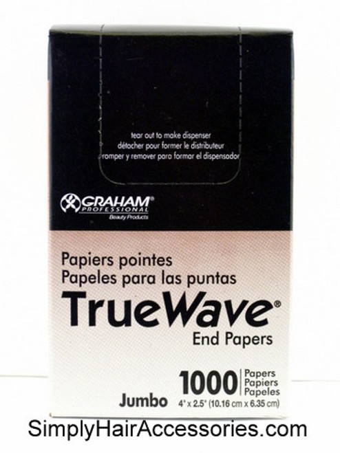 Graham True Wave Roller End Papers - Jumbo - 1000 Pcs.