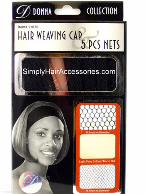 Donna Collection Hair Weaving Cap & 5 Pc. Nets