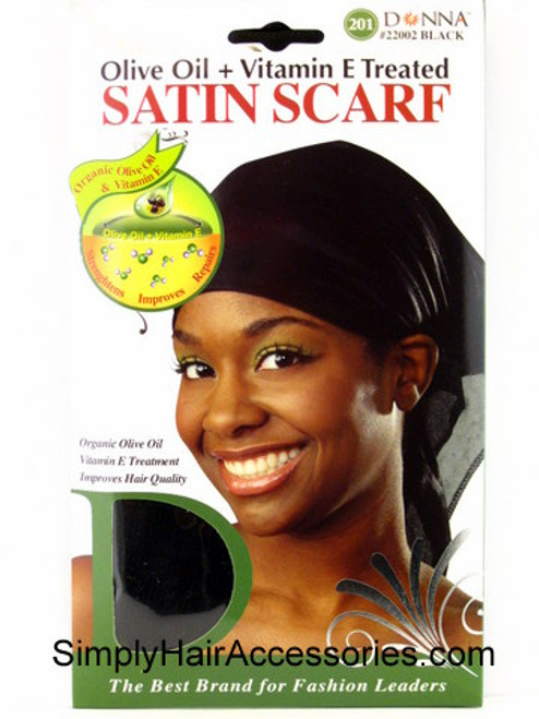 Donna Olive Oil & Vitamin E Treated Satin Scarf