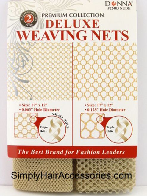 Donna Premium Collection Deluxe Large & Small Hole Weaving Nets - Nude - 2 Pcs.