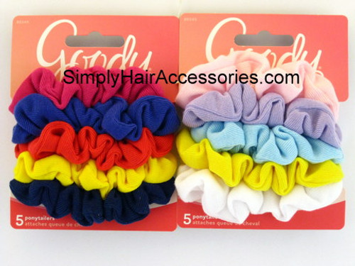 Goody Girls Ouchless Hair Scrunchies -  5 Pcs.