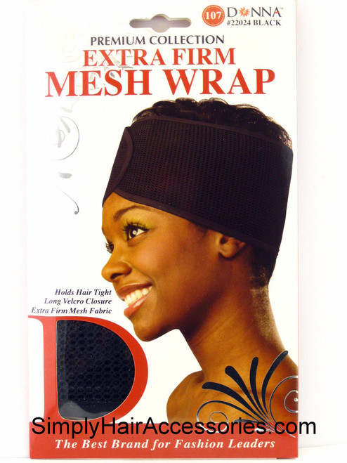 Donna Premium Collection Extra Firm Mesh Wrap - Black