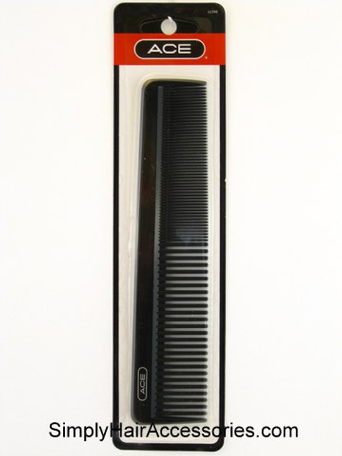 "ACE 7-1/2"" Black Dressing Comb - 1 Pc."