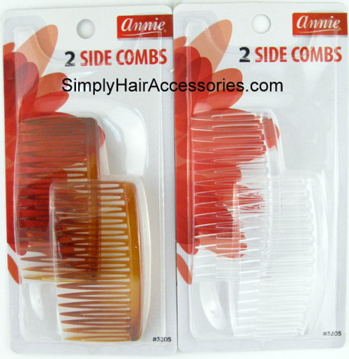 Annie Side Hair Combs -  2 Pcs.