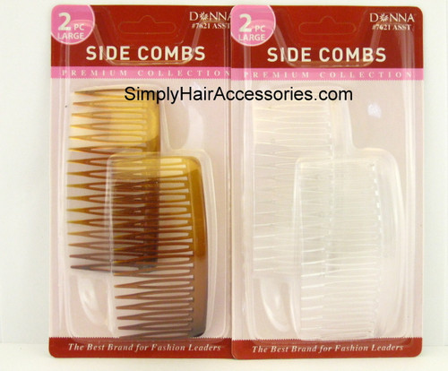 Donna Large Side Hair Combs - 2 Pcs.