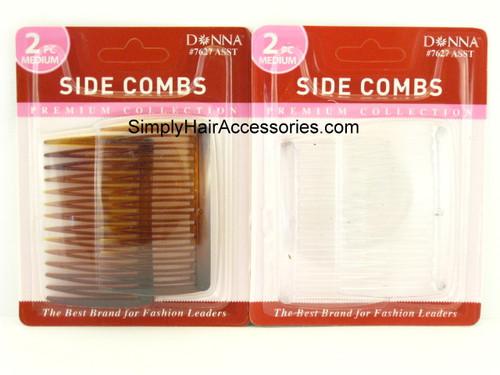Donna Medium Side Hair Combs - 2 Pcs.