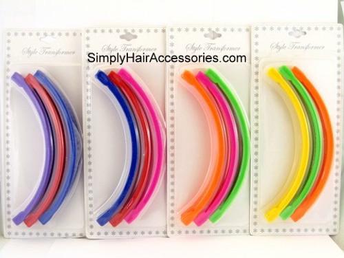"""6"""" Banana Clip Hair Combs -  3 Pcs."""