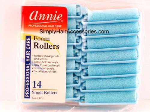"Annie Small 5/8"" Foam Hair Rollers - 14 Pcs."