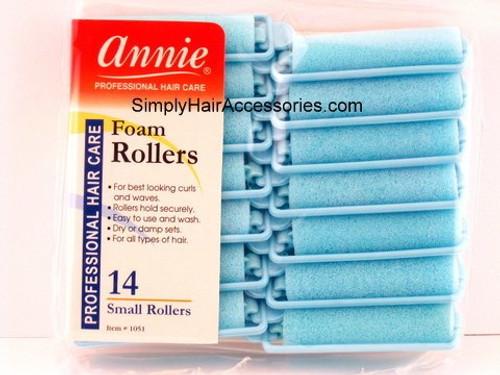 """Annie Small 5/8"""" Foam Hair Rollers - 14 Pcs."""