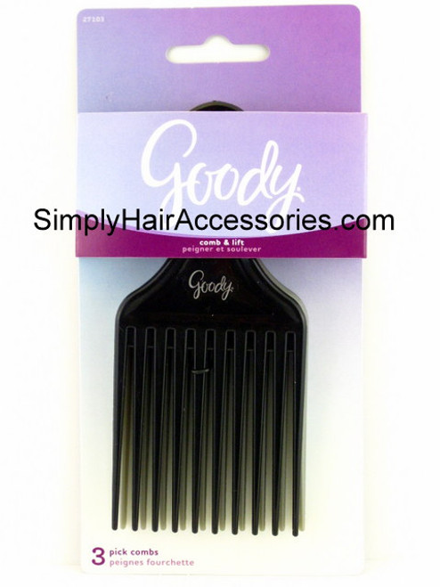 Goody Lift & Go Unbreakable Lift Picks - Gray & Black - 3 Pcs.