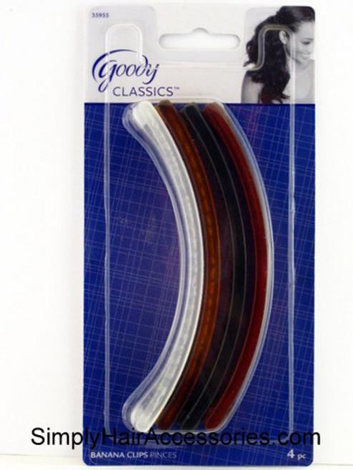 "Goody Shelli 5"" Banana Clincher Hair Combs - 4 Pcs."