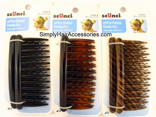 Scunci Zigzag Side Hair Combs - 2 Pcs.