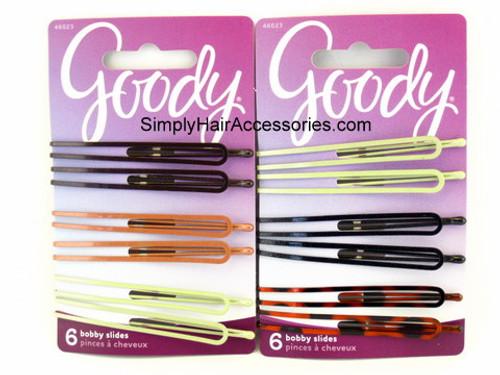 Goody Betsy Bobby Slide Hair Pins - 6 Pcs.