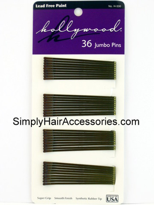 Hollywood Collection Bronze Jumbo Bobby Pins - 36 Pcs.