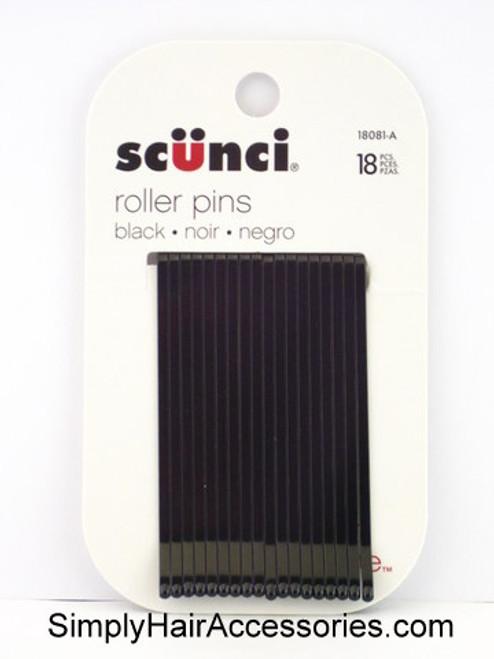 Scunci Black Roller Pins - 18 Pcs.