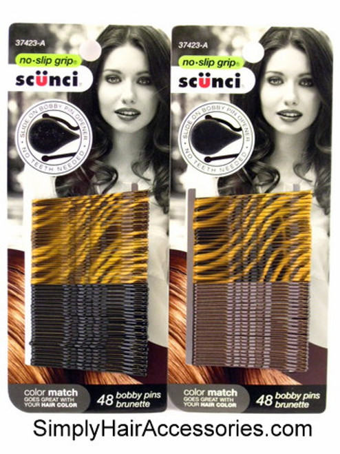 Scunci No Slip Grip Color Match Bobby Pins - 48 Pcs.