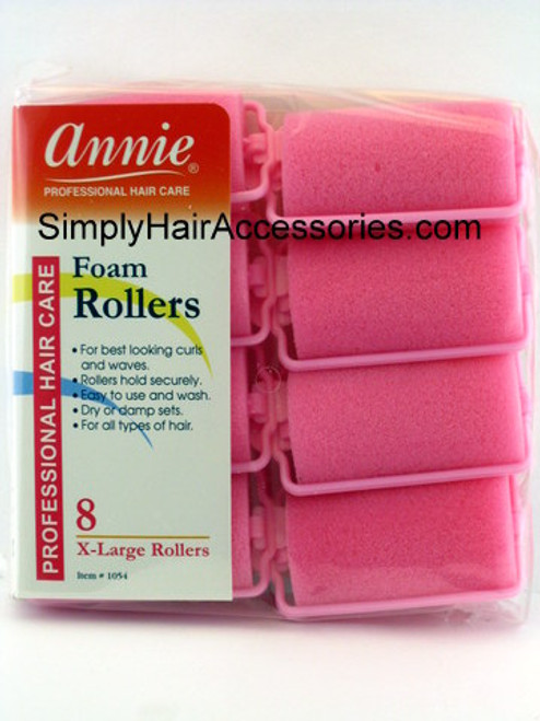 """Annie 1-1/4"""" X-Large Foam Hair Rollers - 8 Pcs."""