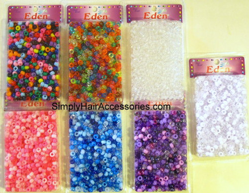Eden Pony Braiding Hair Beads - Approximately 700 Pcs.