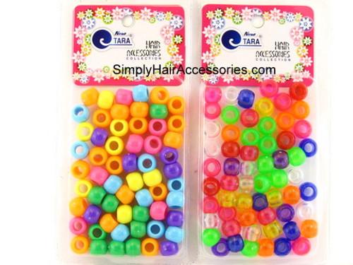 Tara Assorted Color Braiding Pony Beads - 60 Pcs.