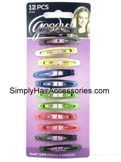 Goody Classics Metallic Oval Snap Clips - 12 Pcs.