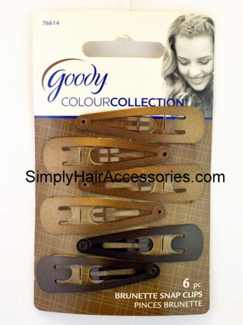 Goody Colour Collection Contour Clips - Brunette - 6 Pcs.