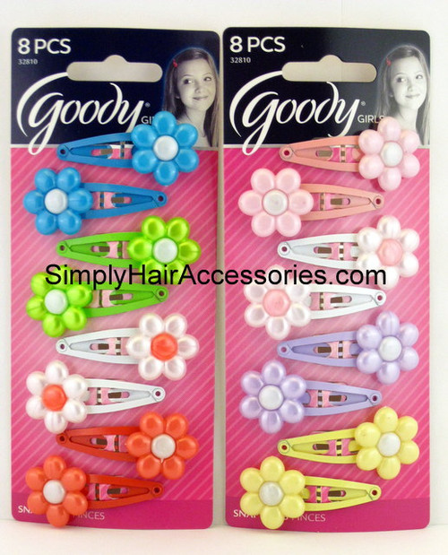 Goody Girls Daisy Snap Clips - 8 Pcs.