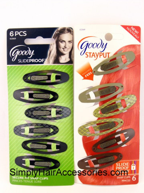 Goody Slideproof Snap Clips -  6 Pcs.