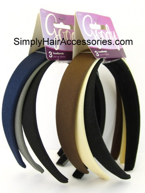 Goody Fabric Head Bands - 3 Pcs.