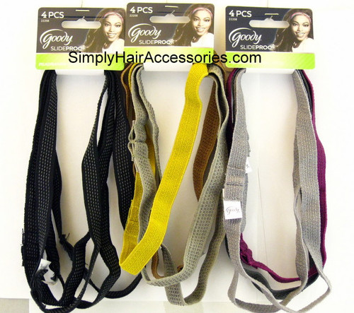 Goody Slideproof Head Bands - 4 Pcs.