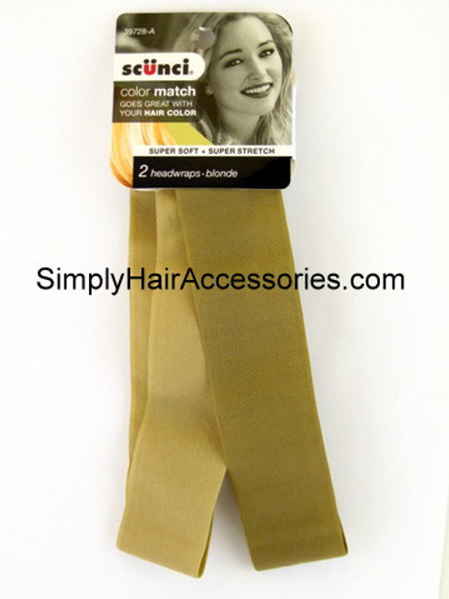 Scunci Color Match Blonde Head Wraps - 2 Pcs.