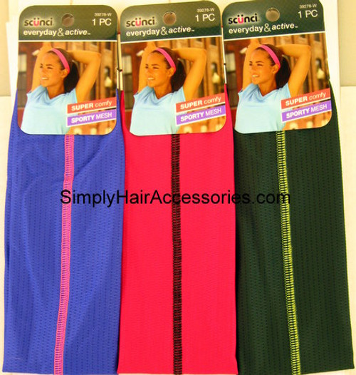 Scunci Everyday & Active Sporty Mesh Head Band - 1 Pc.