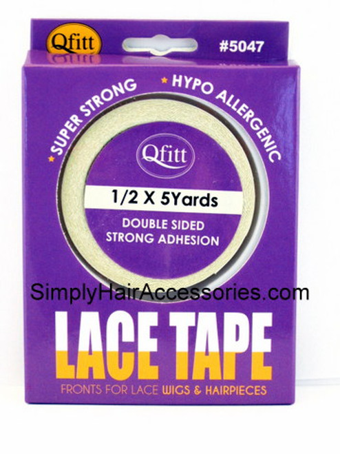 Qfitt Double Sided Lace Tape For Wigs & Hairpieces - 1/2 x 5 Yards  - 1 Roll
