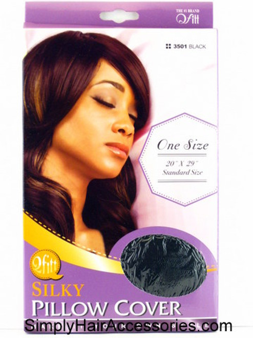 Qfitt Silky Black Satin Pillow Cover