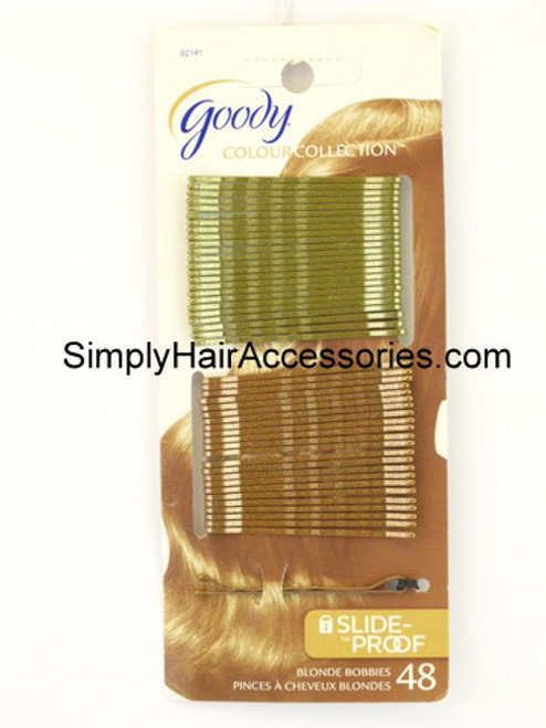 Goody Colour Collection Slide Proof Blonde Bobbie Slides - 48 Pcs.
