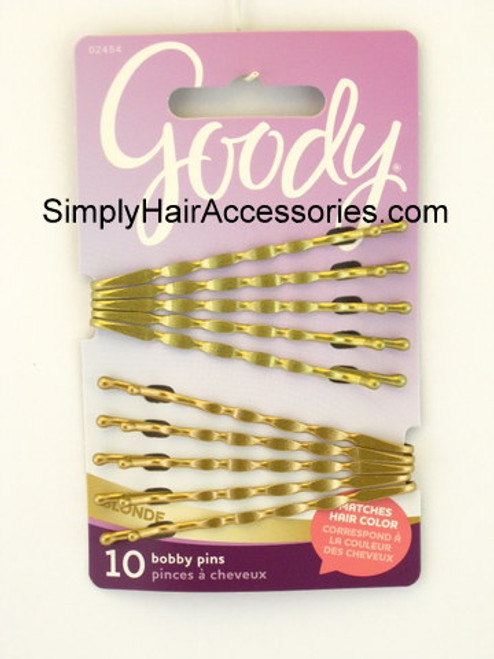 Goody Colour Collection Wavy Bobby Slides - Blonde - 10 Pcs.