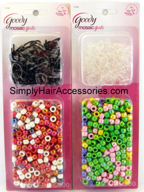 Goody Mosaic Girls Elastics & Beads Set - 600 Pcs.