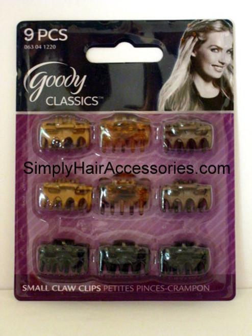 Goody Classics Micro Bowtie Claw Hair Clips - 9 Pcs.