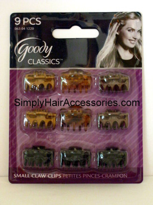 Goody Classics Micro Bowtie Claw Hair Clips - 9 Pcs.