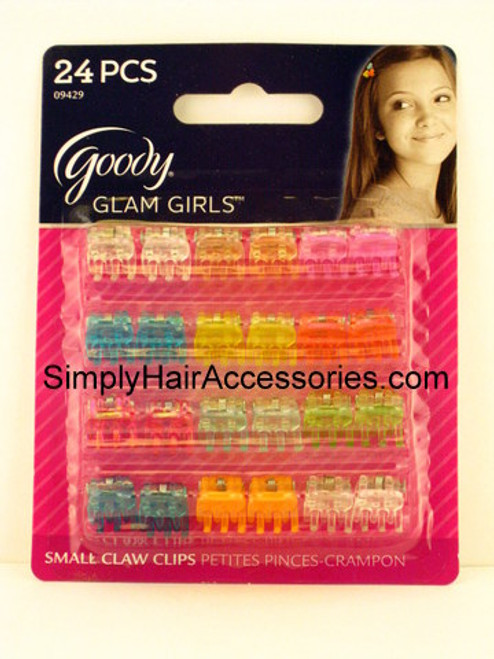 Goody Glam Girls Small Claw Hair Clips - 24 Pcs.