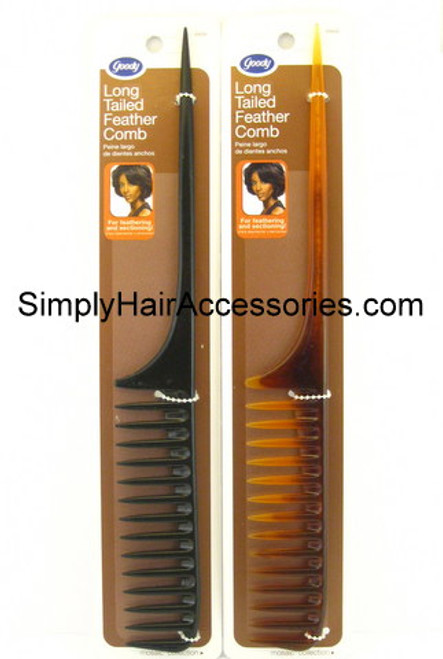 Goody Long Tailed Feather Hair Comb - Pc.
