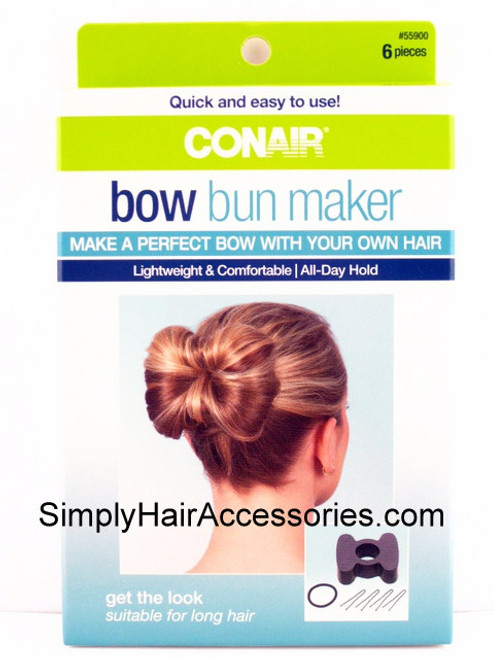 Conair Bow Bun Maker - 6 Piece Kit