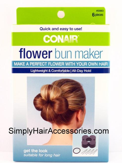 Conair Flower Bun Maker - 6 Piece Kit