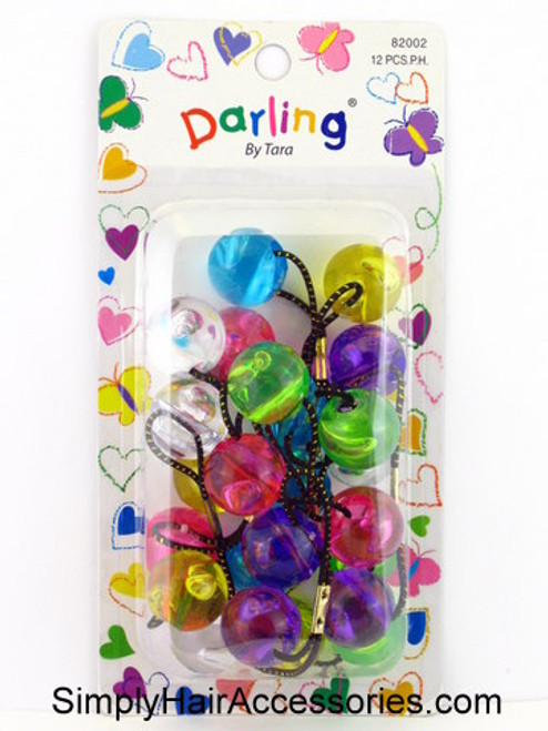 Darling By Tara Twinbead Ponytail Holders - 12 Pcs.