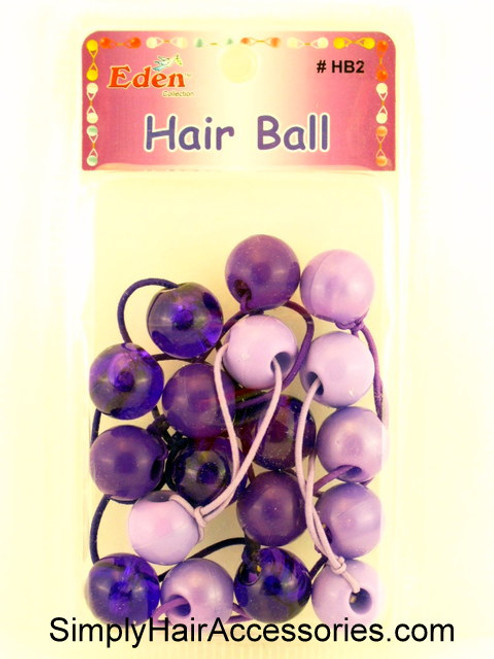 Eden Twinbead Ponytailers - Shades of Purple