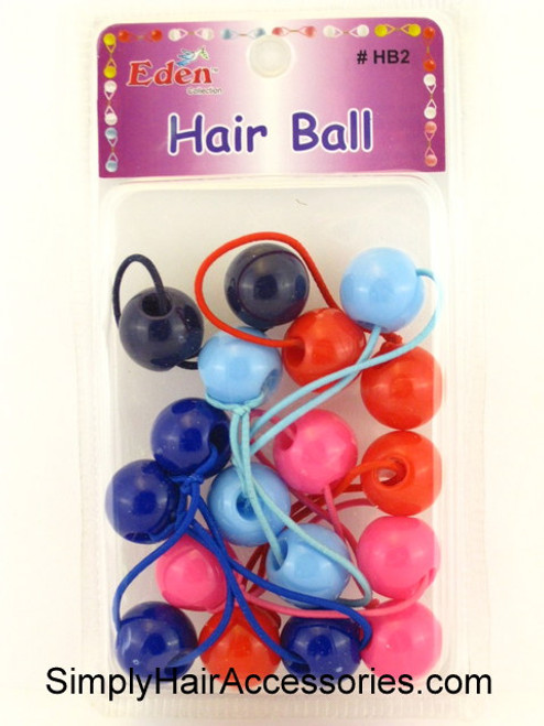 Eden Twinbead Solid Ponytailers - Assorted Solid Colors