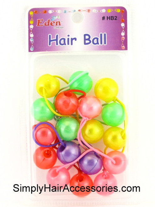 Eden Twinbead Solid Ponytailers - Pastel Colors